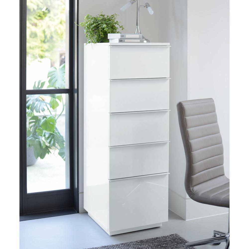 Onum tall office cabinet white