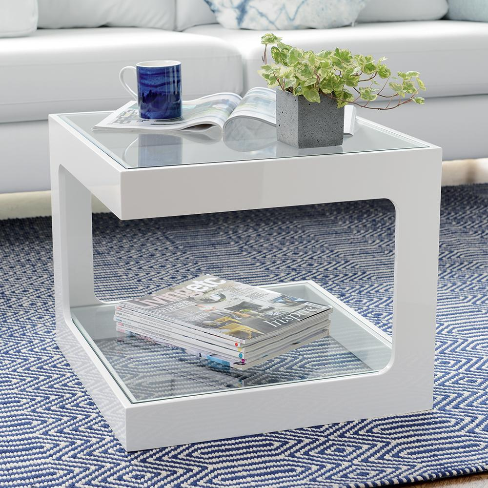 Mixta gloss side table white