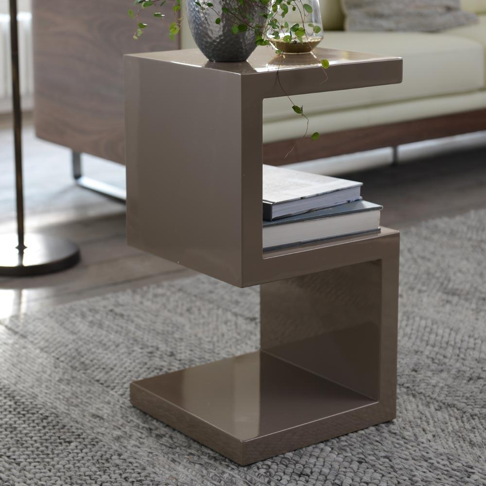 Forma side table stone