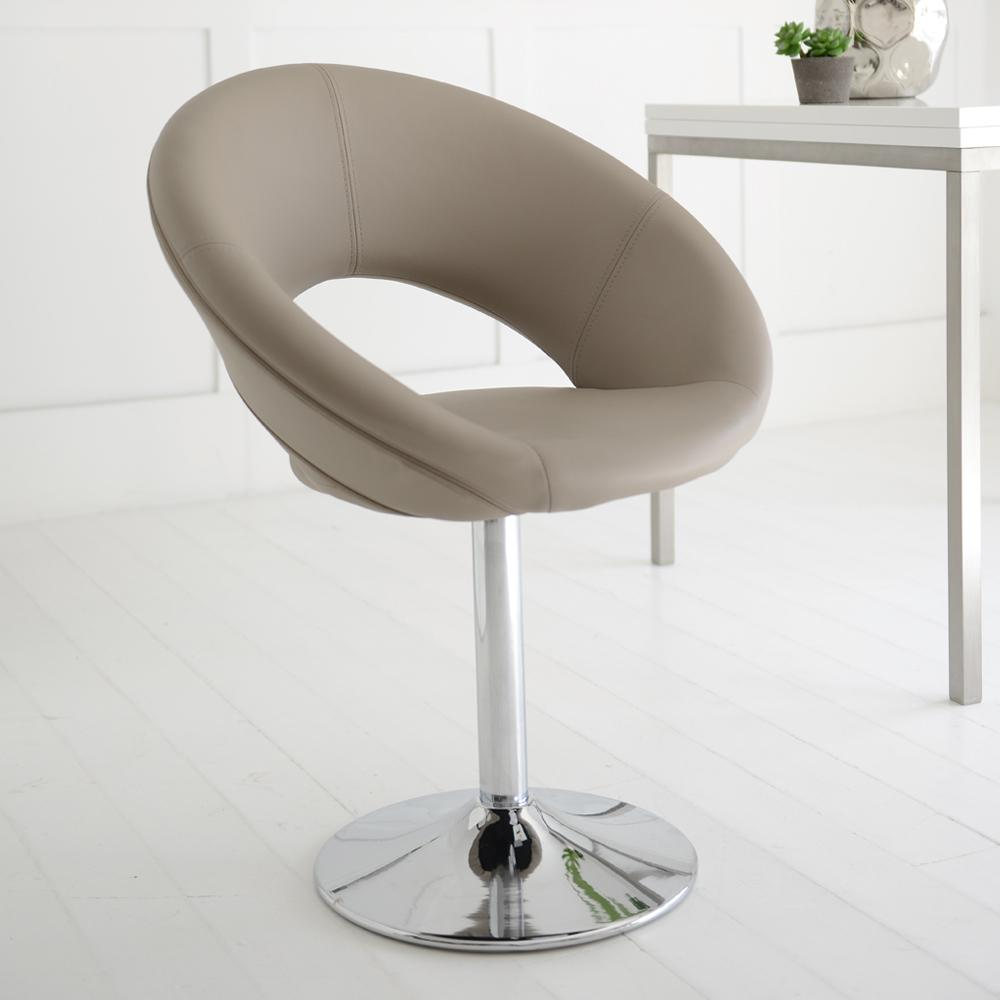 Retro circles dining chair stone