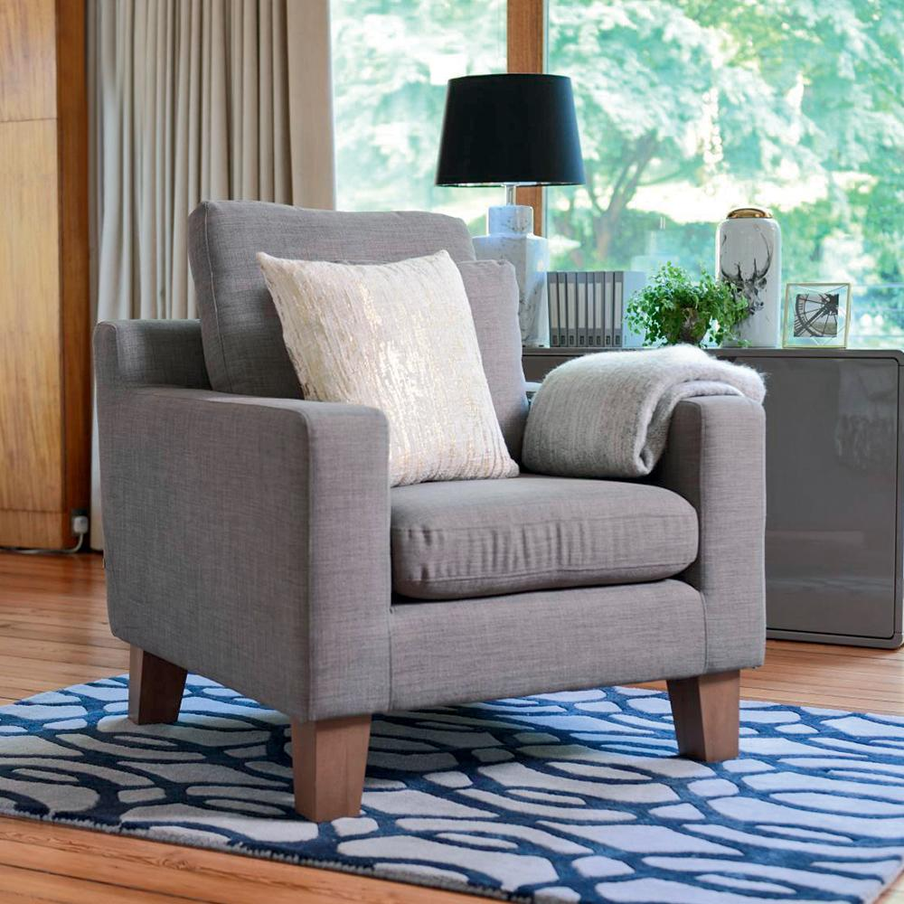 Ankara armchair light grey
