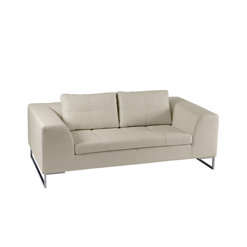 Vienna leather two seater sofa stone