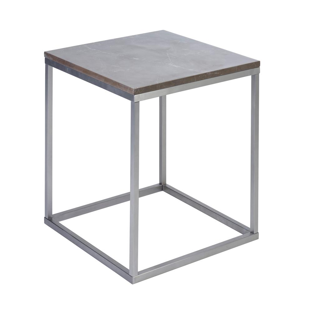 Cadre marble side table grey