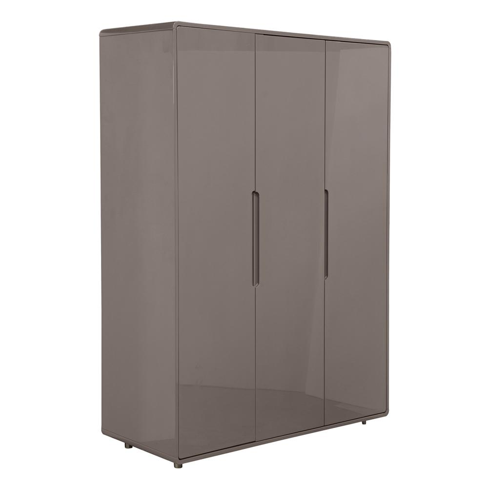 Notch wardrobe three door stone
