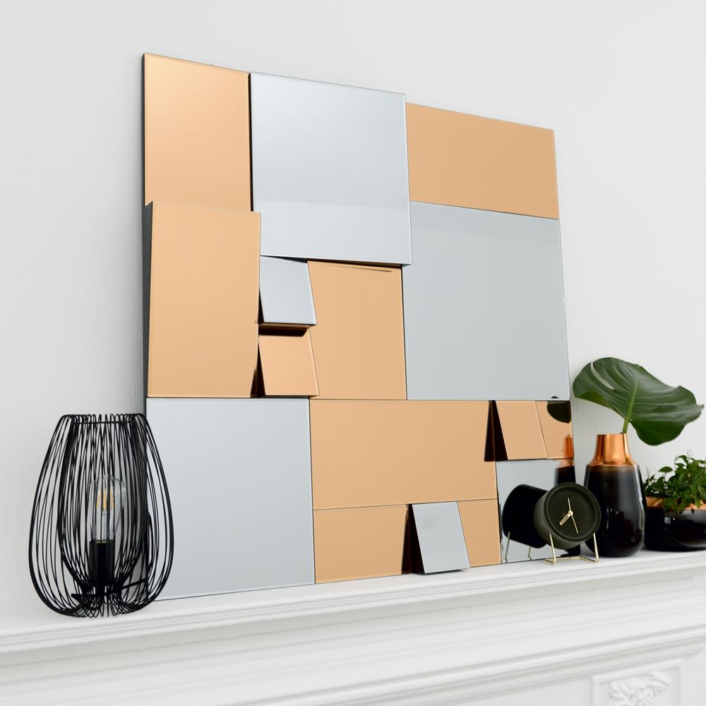 Remy mirror copper and grey