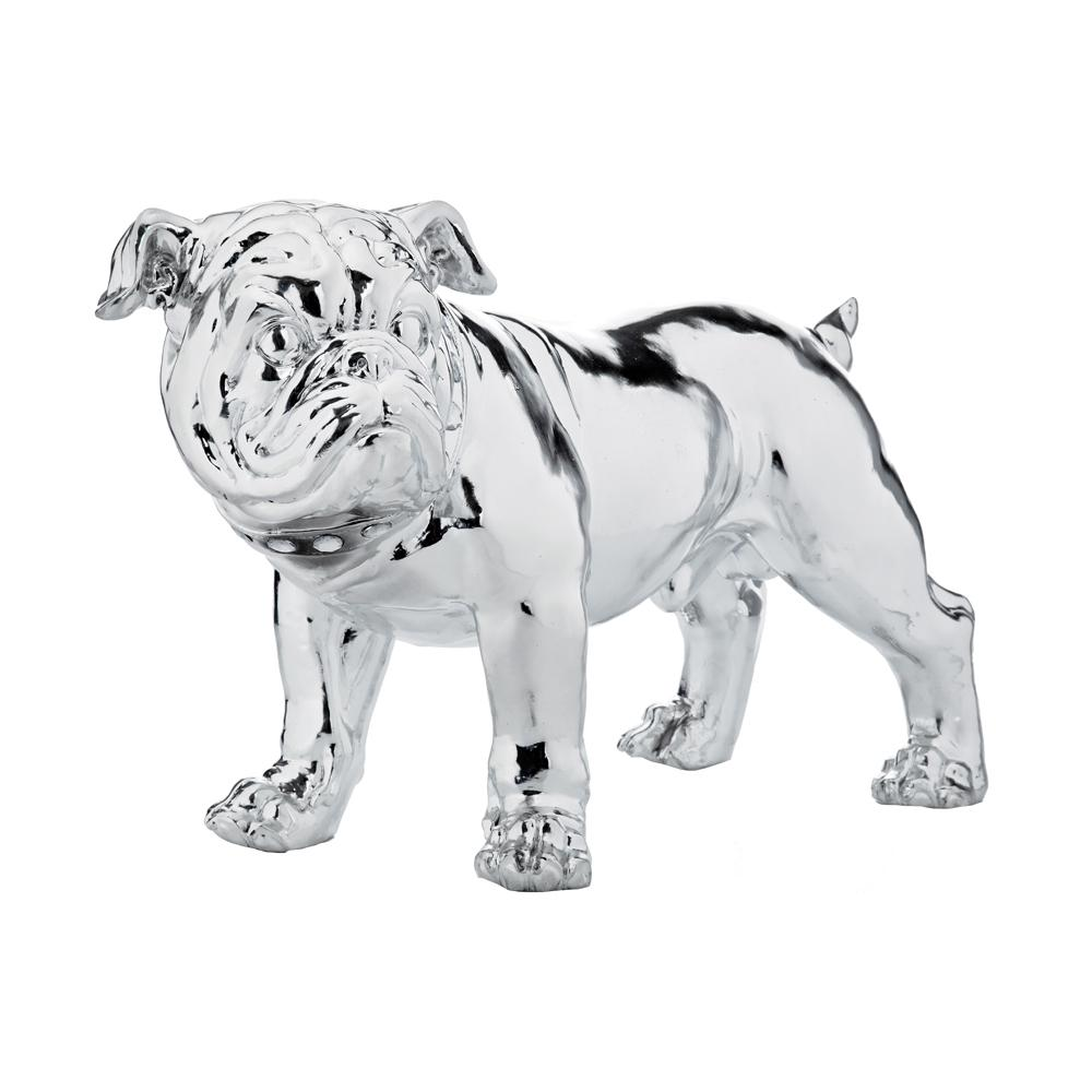 Bulldog ornament chrome