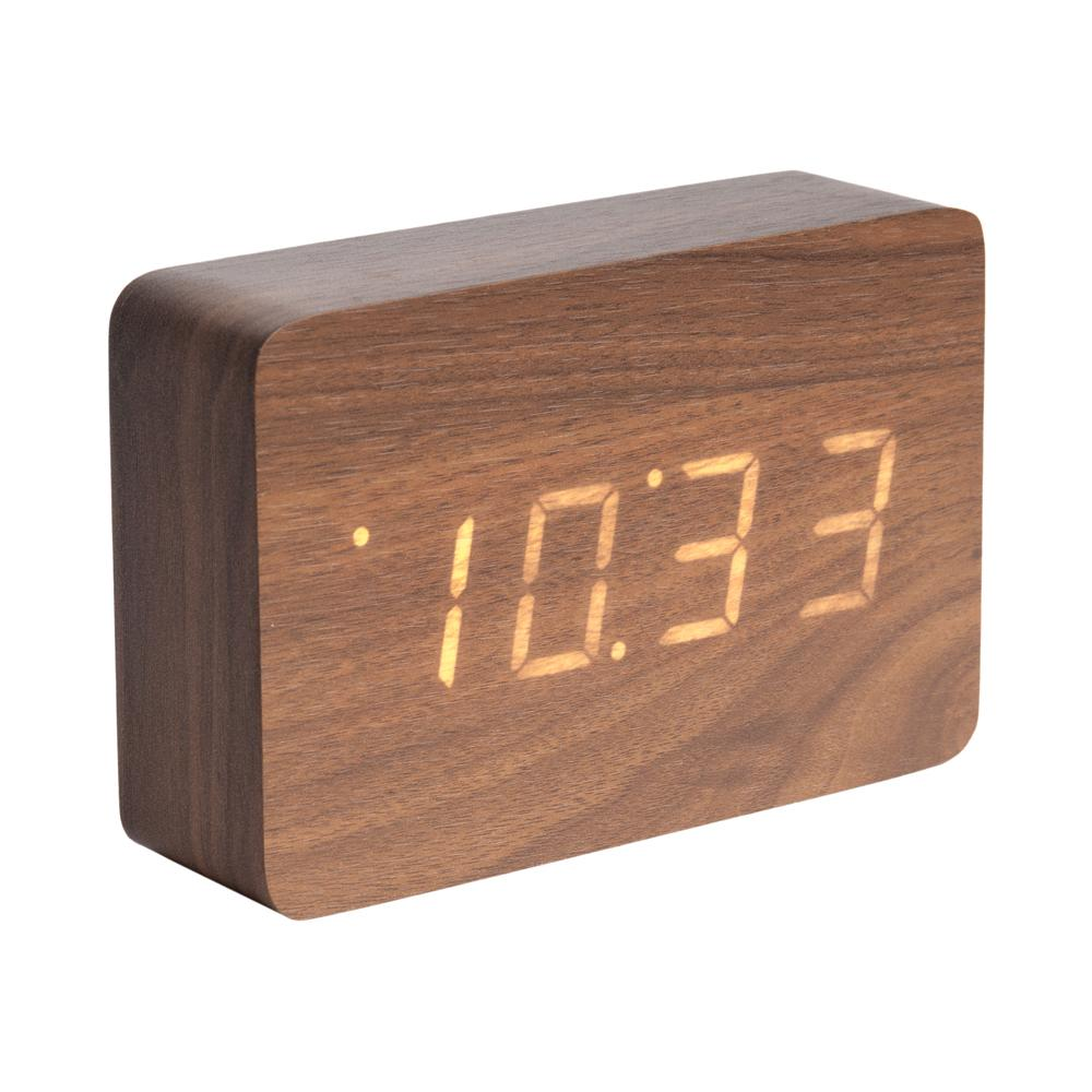 Digital alarm clock walnut
