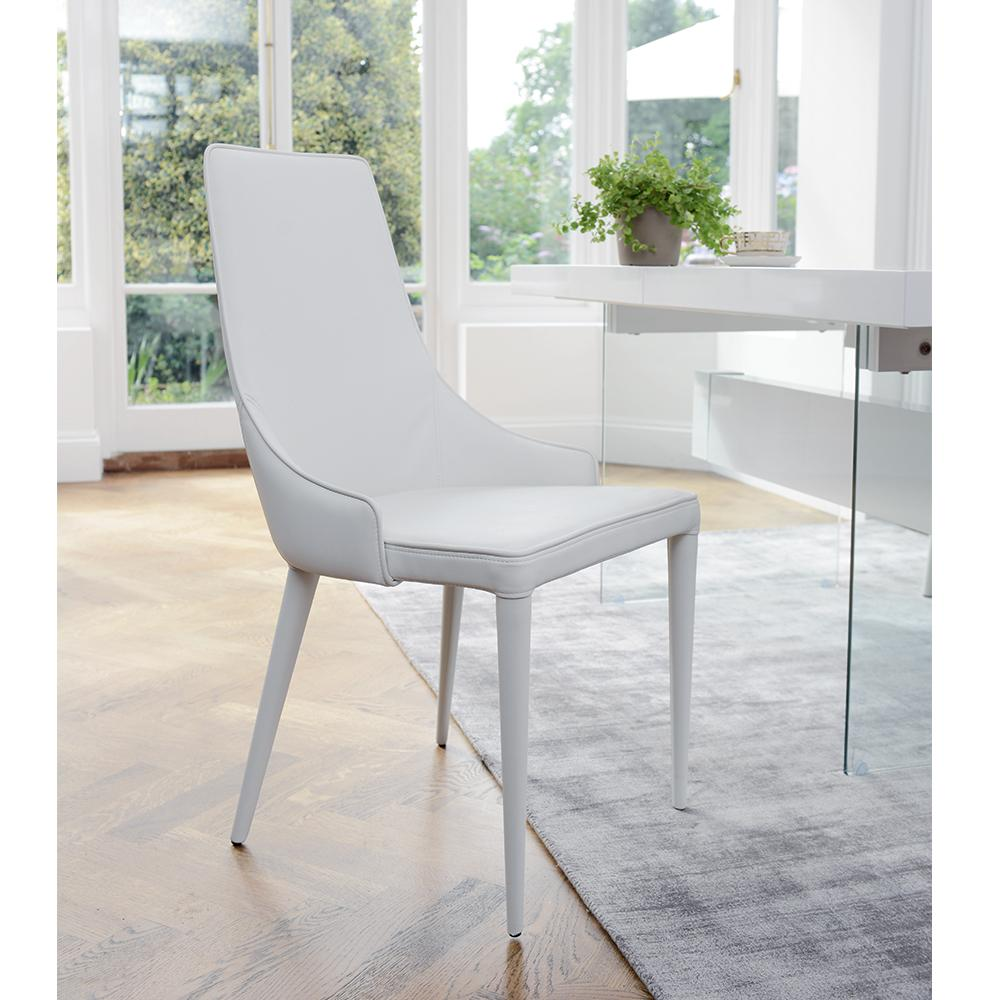 Sottile  dining chair faux leather white