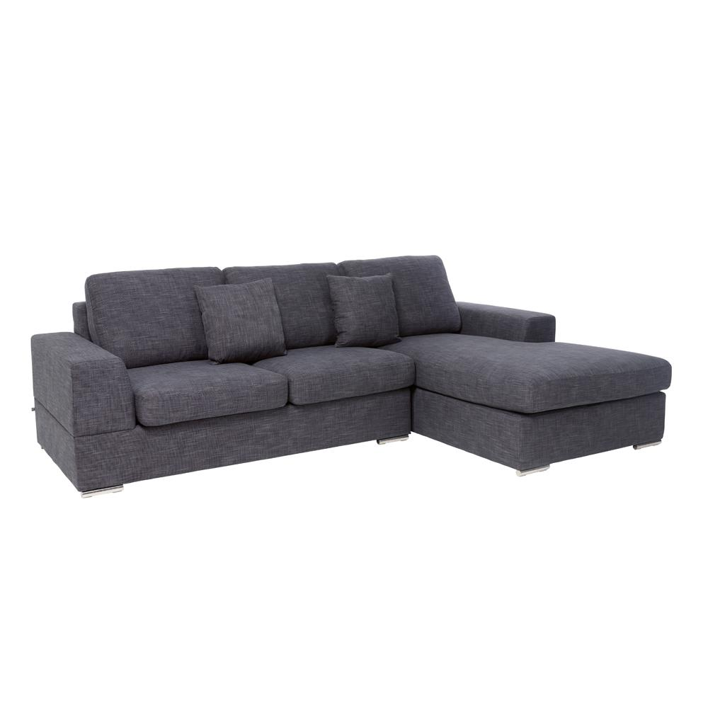 Verona II left hand facing arm four seat chaise end storage sofabed  slate