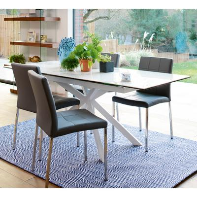 Bolzano marble ceramic extending 6-8 seater dining table
