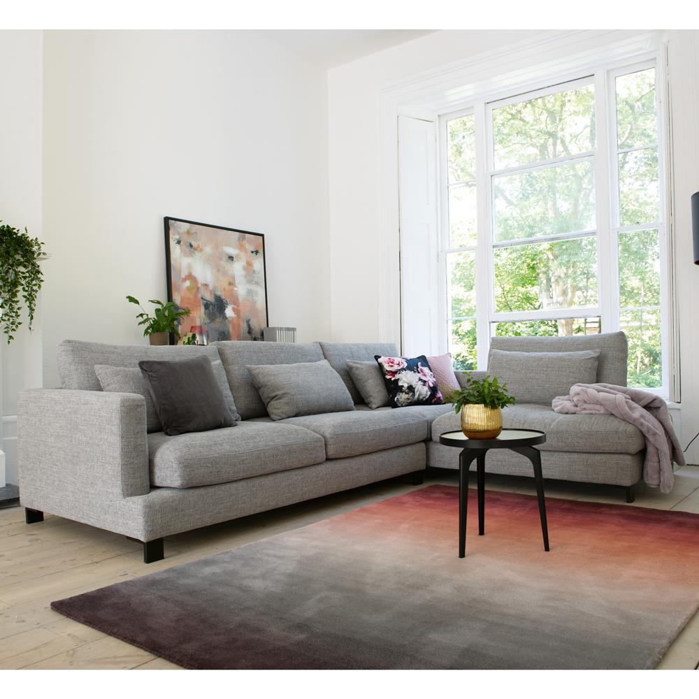 Lugano left hand facing arm corner sofa callida grey