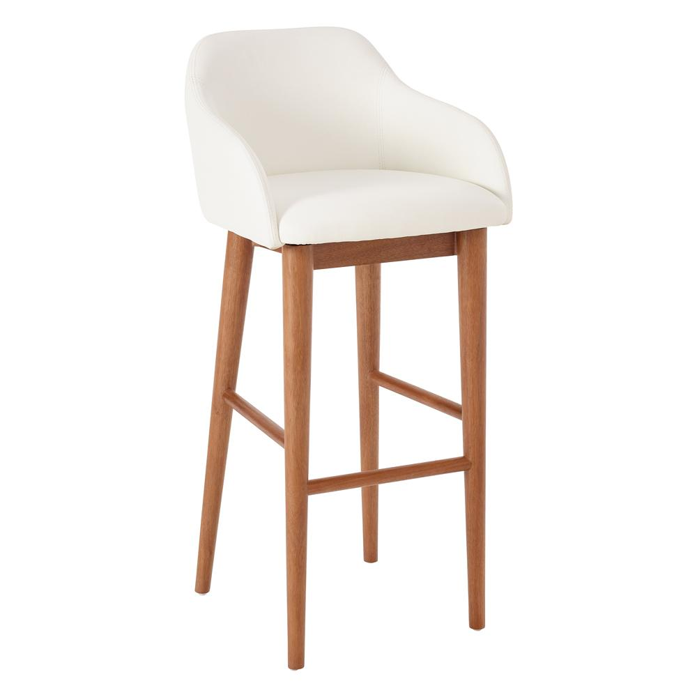 Dip bar stool white