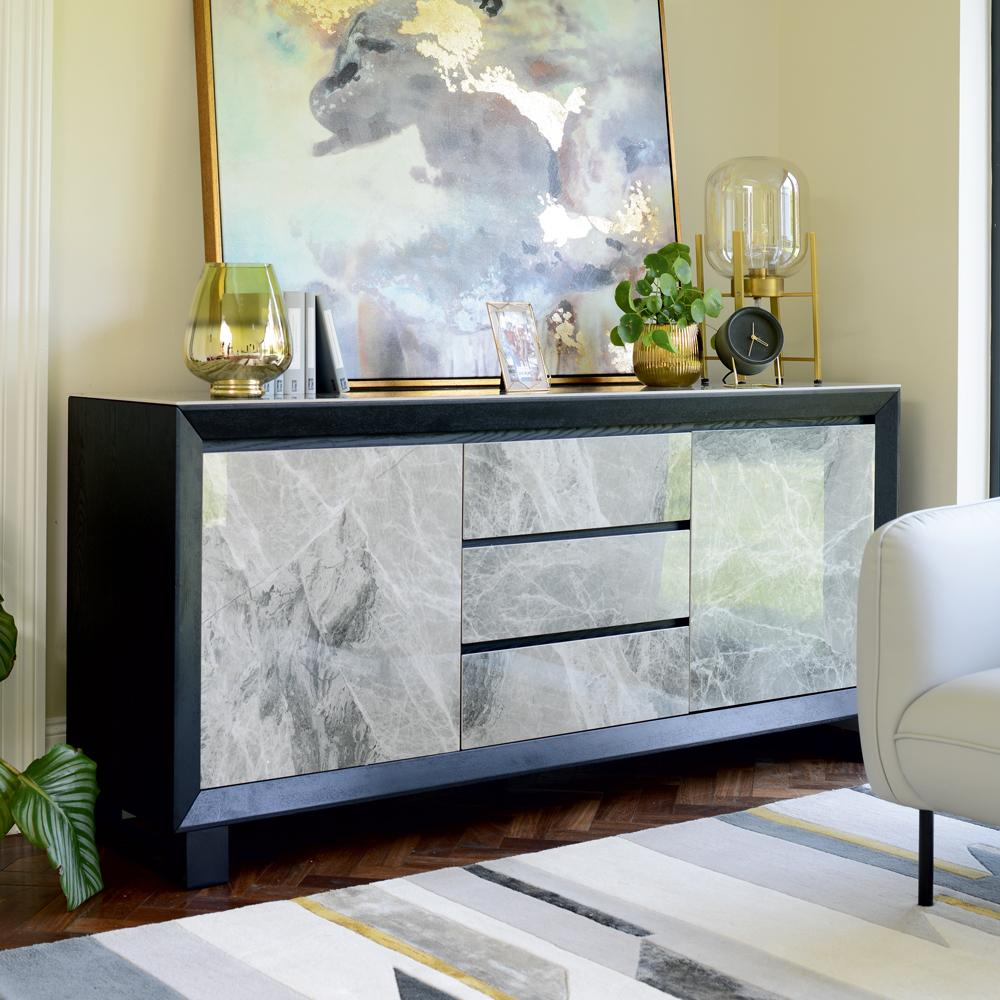 Teno sideboard grey marble ceramic