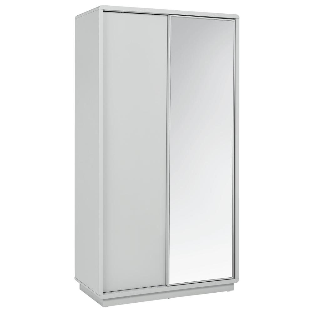 Malone sliding mirror door wardrobe light grey