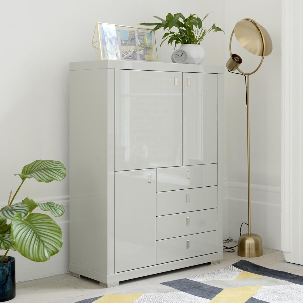 Malone tall sideboard light grey