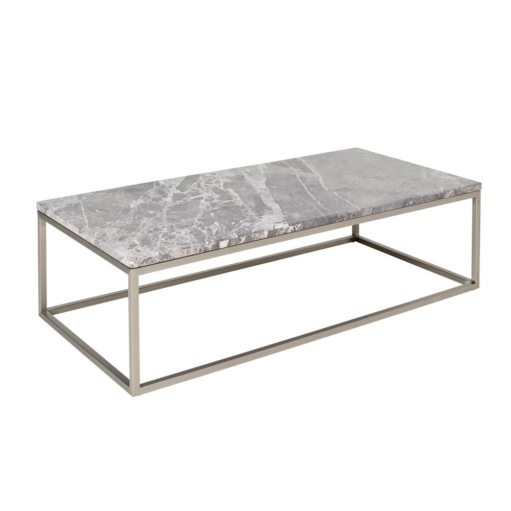 Cadre marble rectangular coffee table light grey