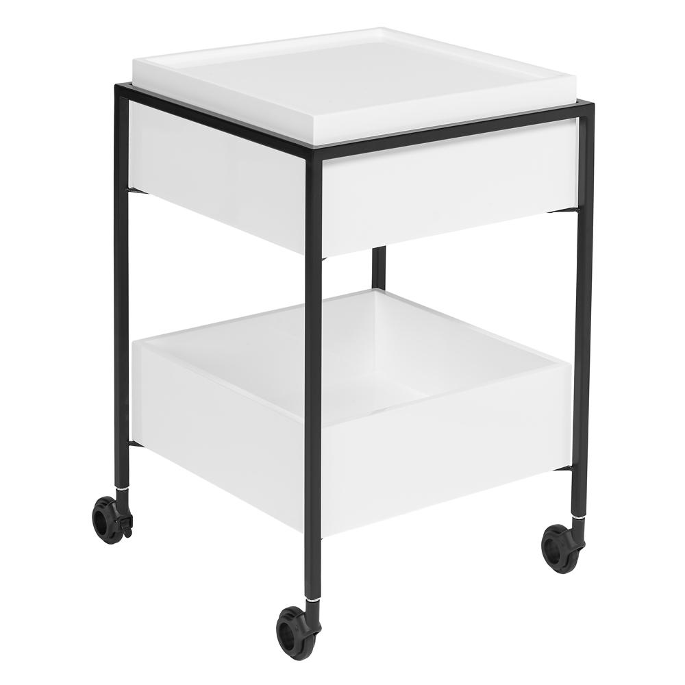 Divario trolley white gloss