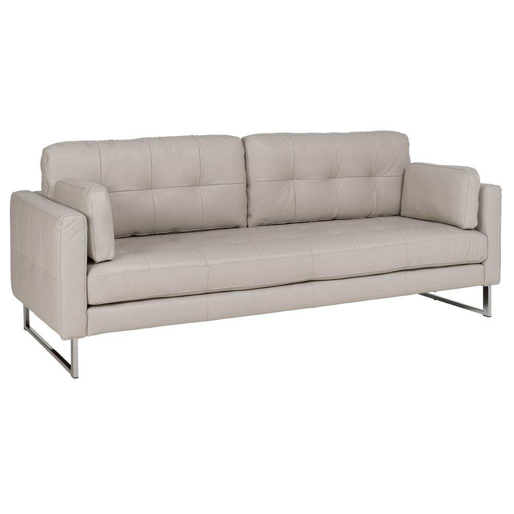 Paris leather four seater sofa stone
