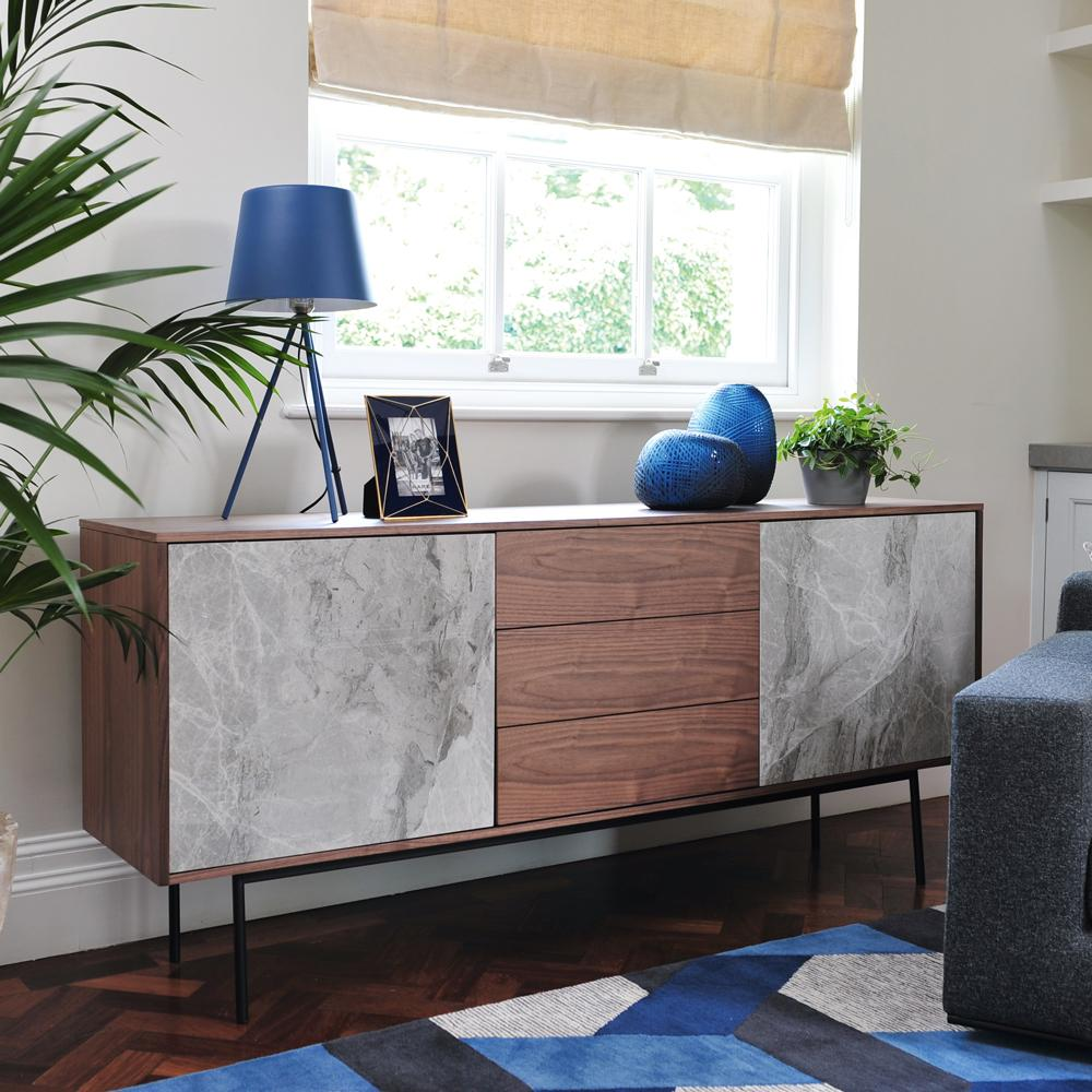 Marma sideboard grey marble ceramic