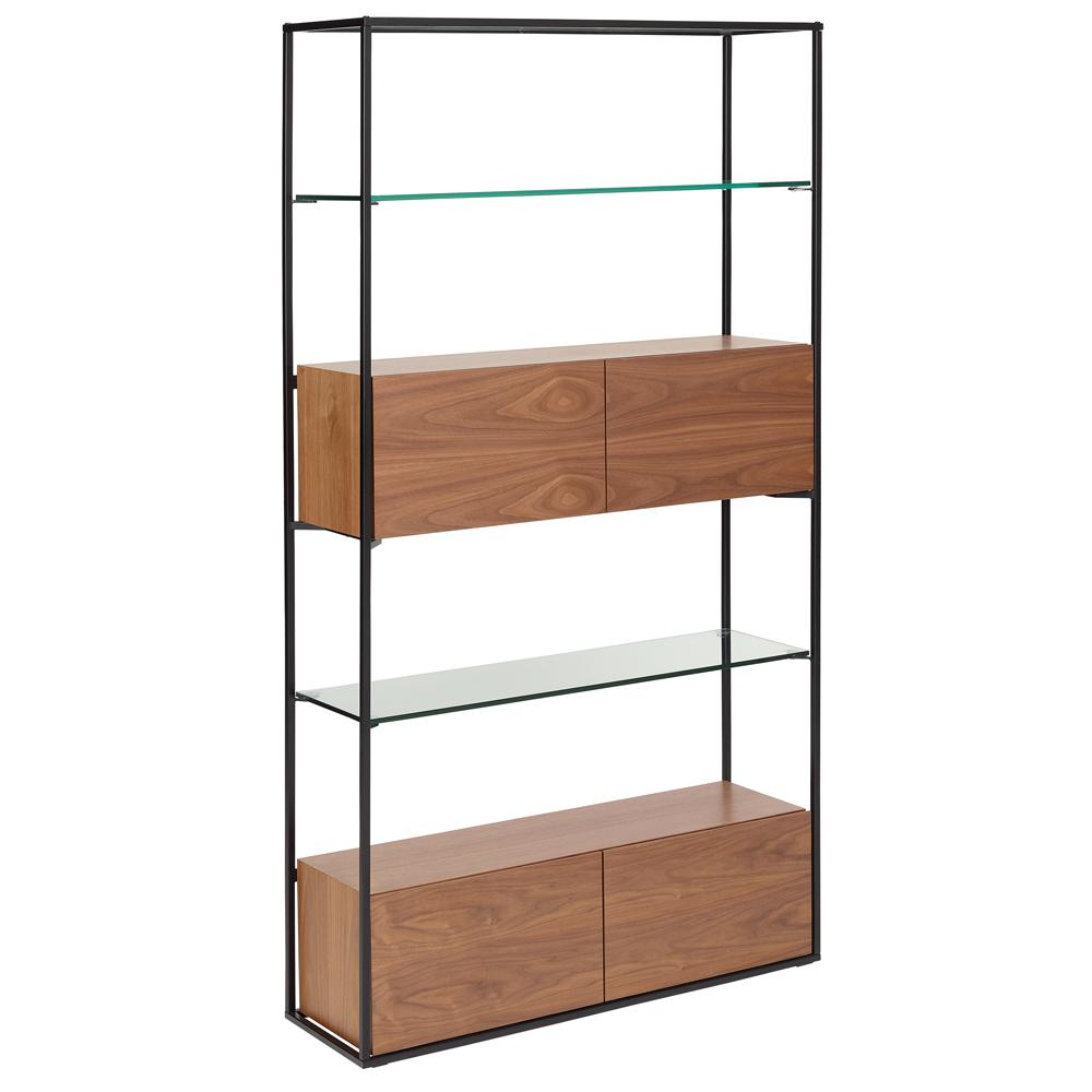 Divario shelving walnut