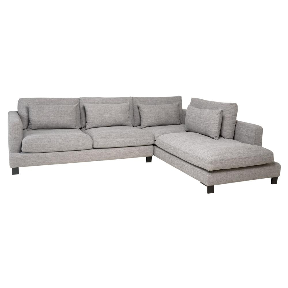 Lugano II left hand facing arm corner sofa callida grey