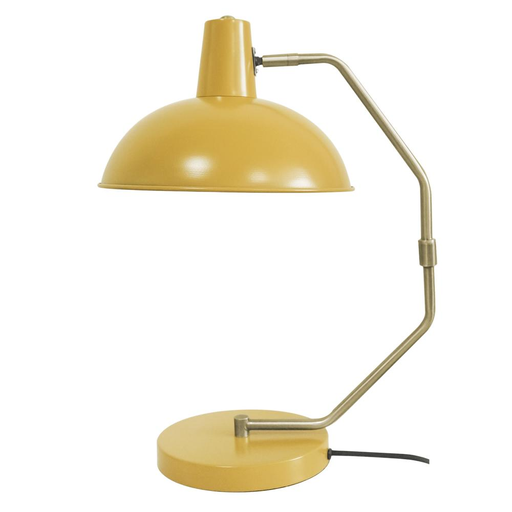 Clara table lamp metal yellow tall