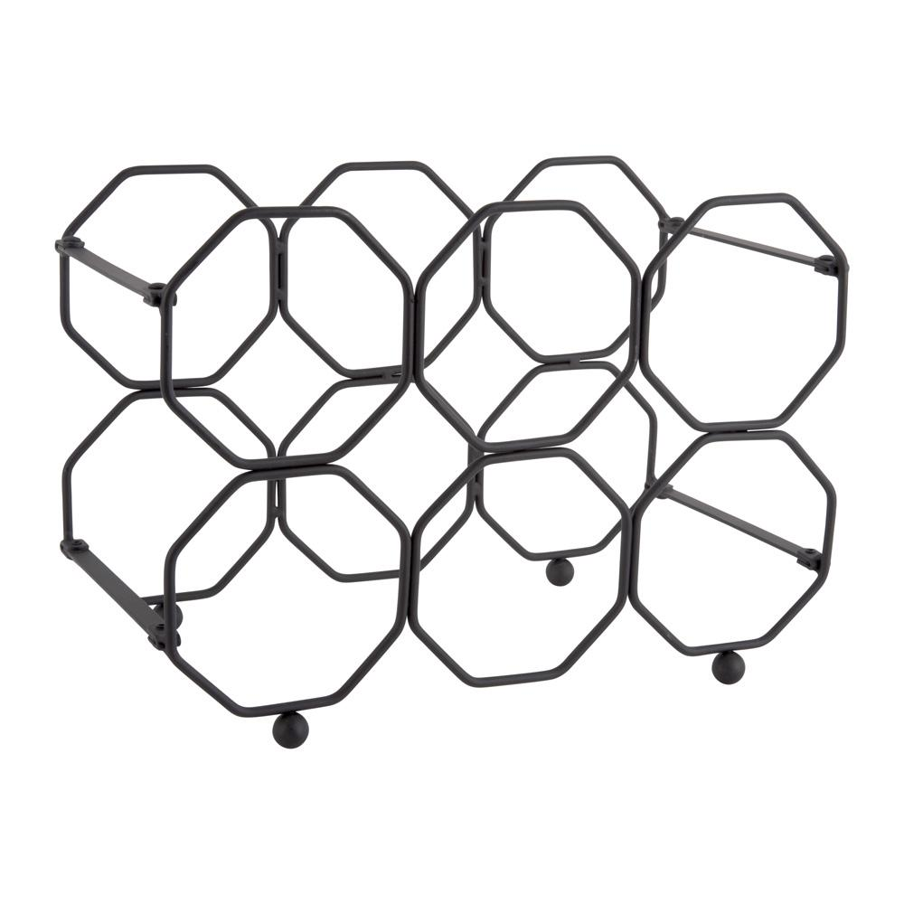 Vino fold-able honeycomb wine rack metal black