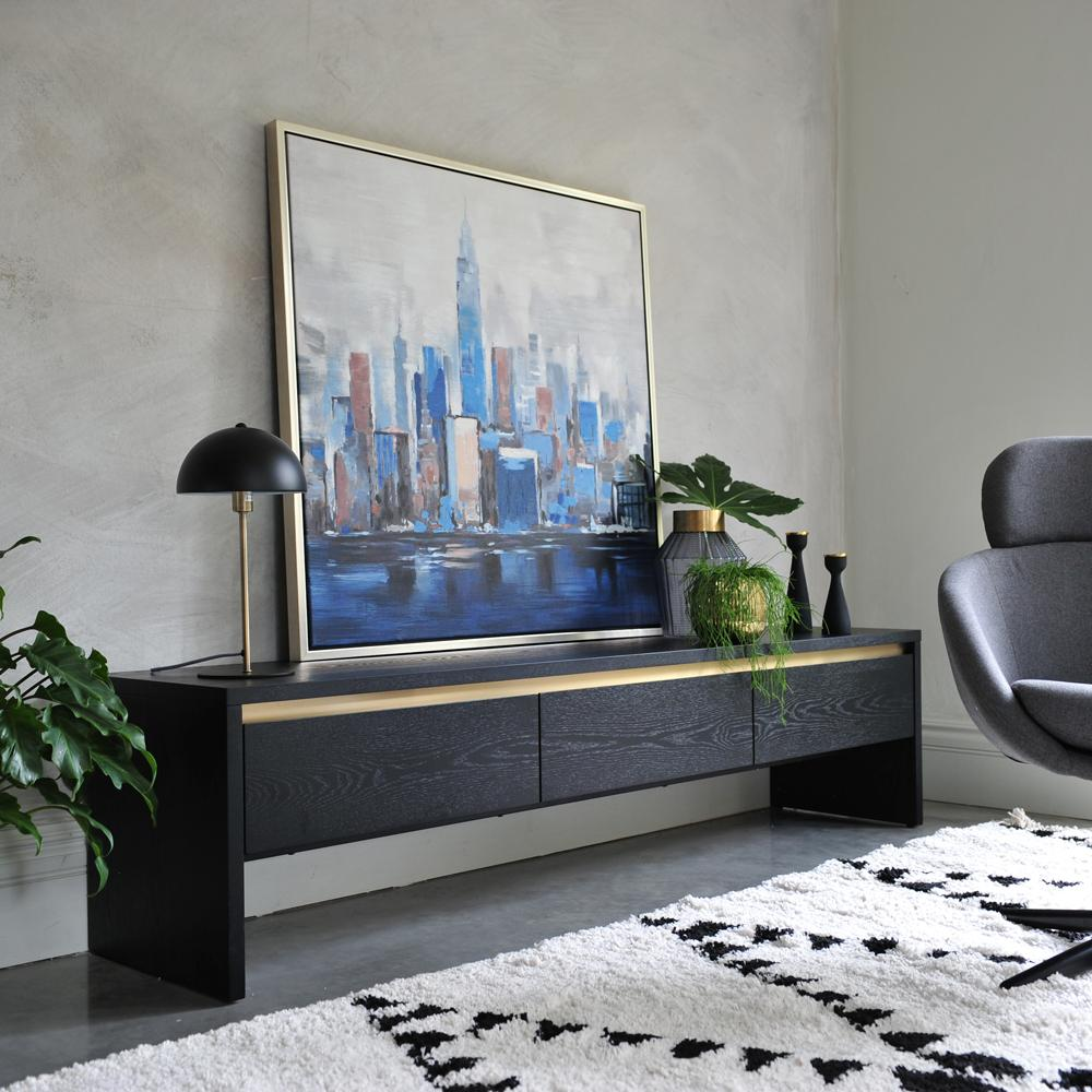 Fictil TV unit dark wood