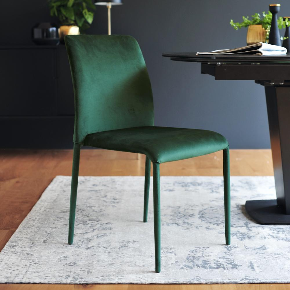 Svelte dining chair green velvet