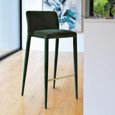 Svelte bar stool green velvet