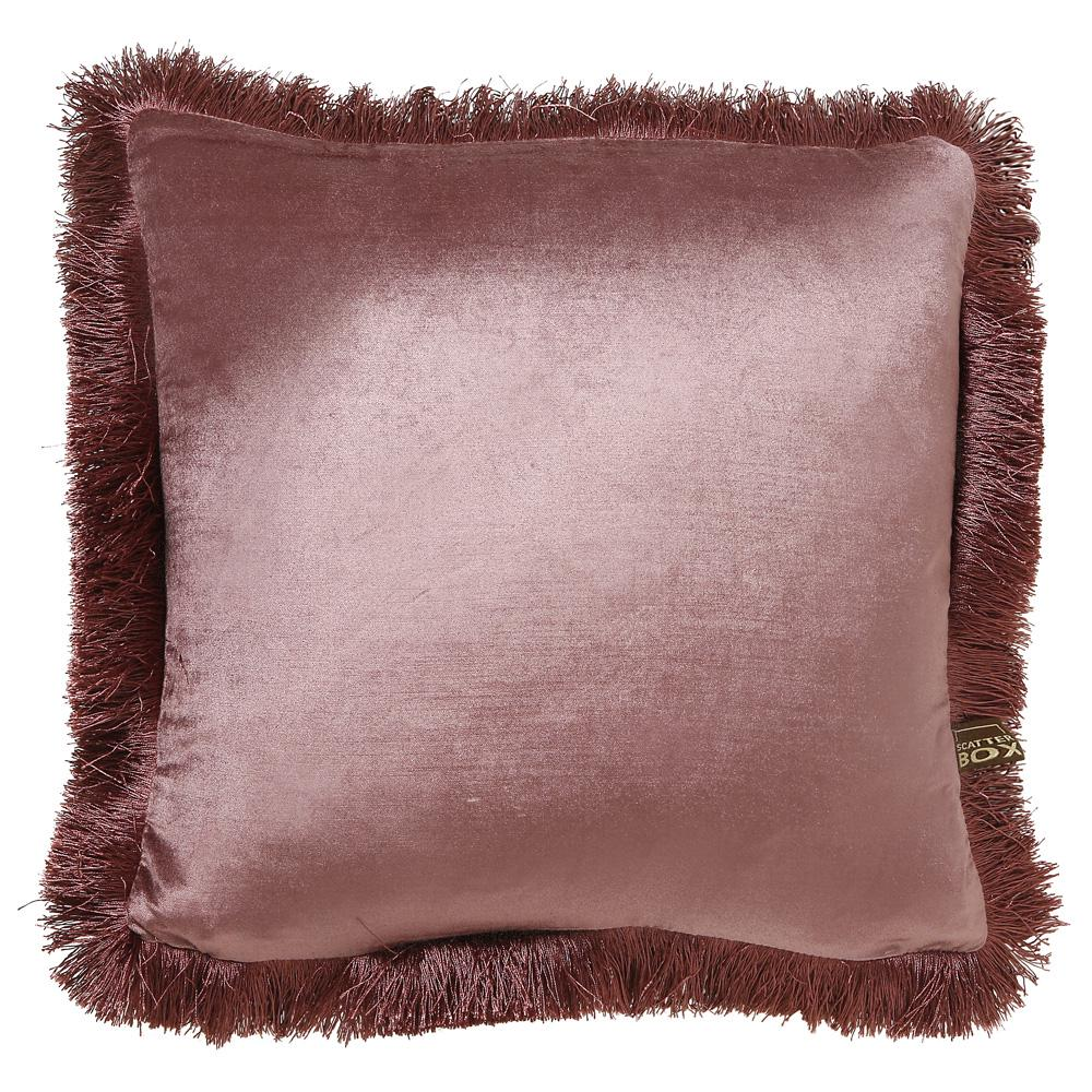 Larla antique rose velvet cushion