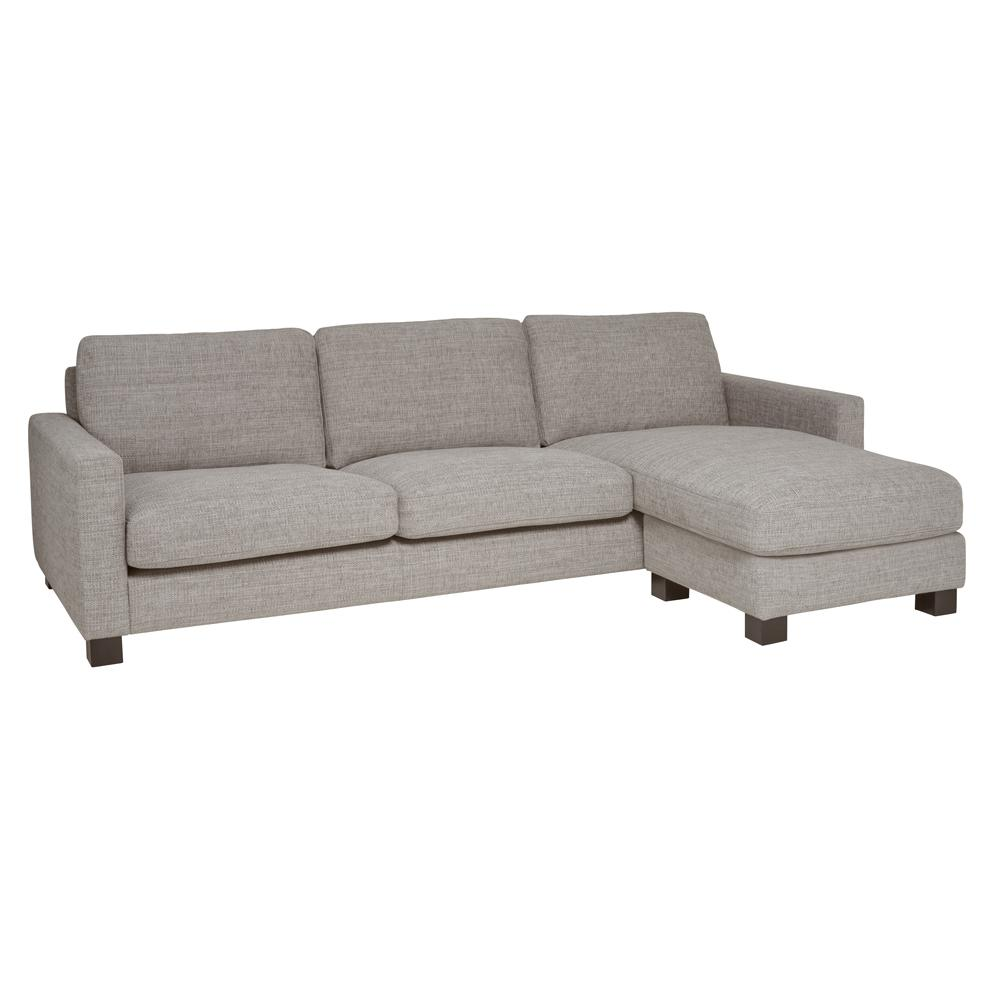 Monaco reversible corner sofa grey fabric