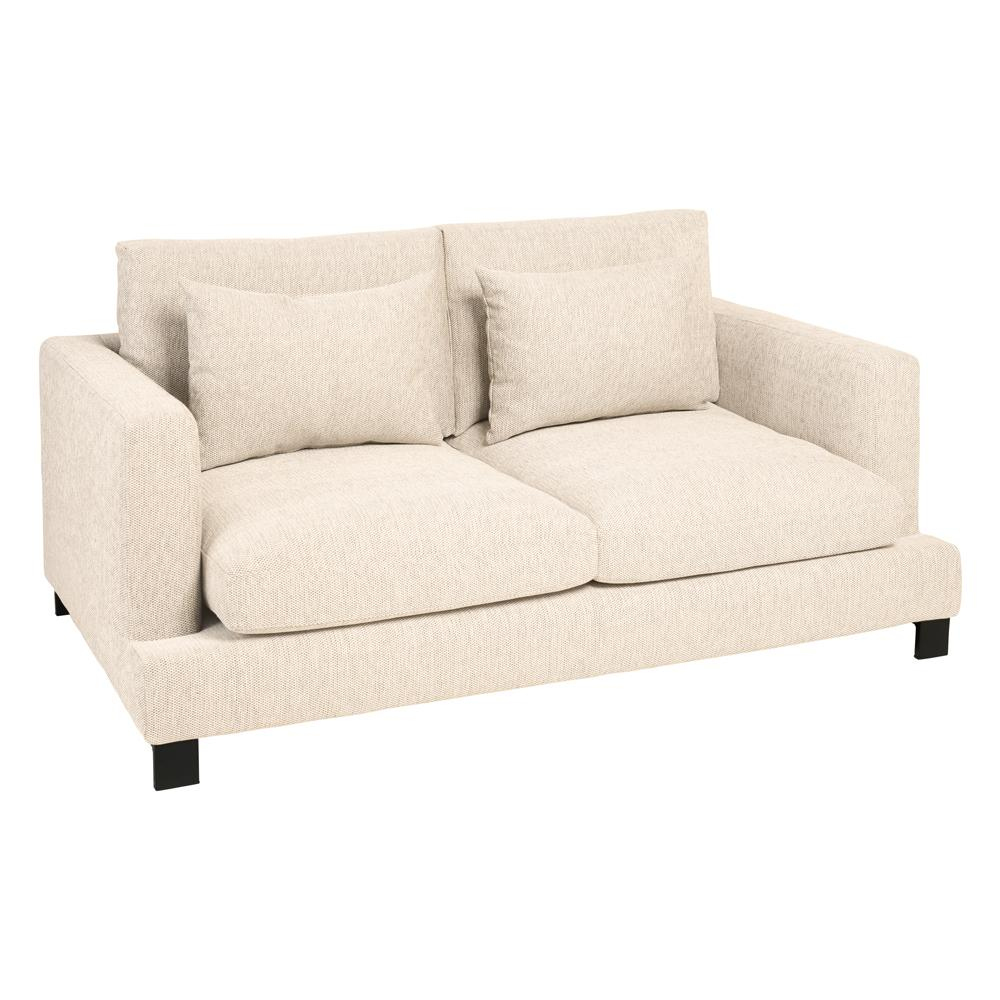 Lugano two seater sofa ivory fabric