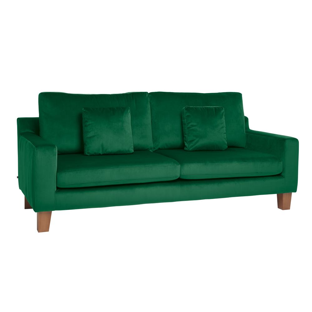 Ankara three seater sofa forest green velvet
