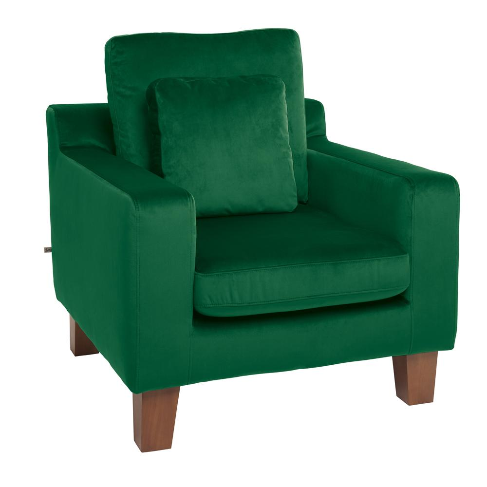 Ankara armchair forest green velvet