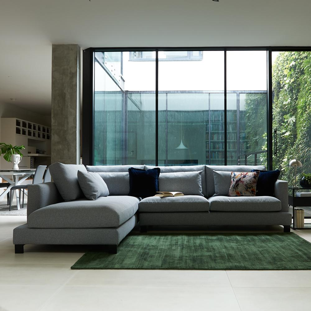 Lugano four seater sofa silver