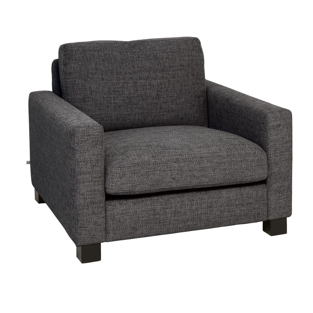 Monaco armchair charcoal fabric