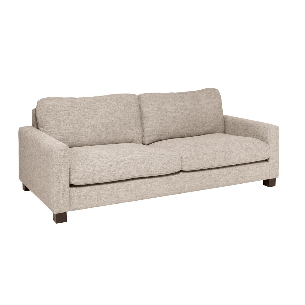 Monaco three seater sofa sand fabric