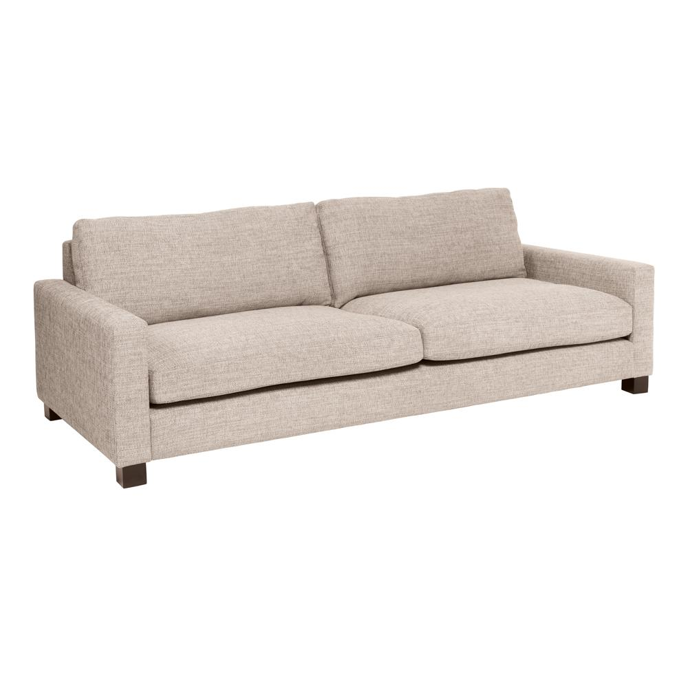 Monaco four seater sofa sand fabric