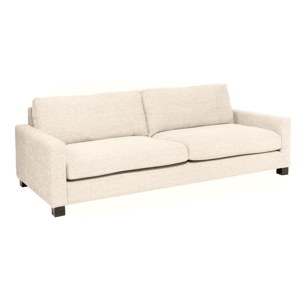Monaco four seater sofa ivory fabric