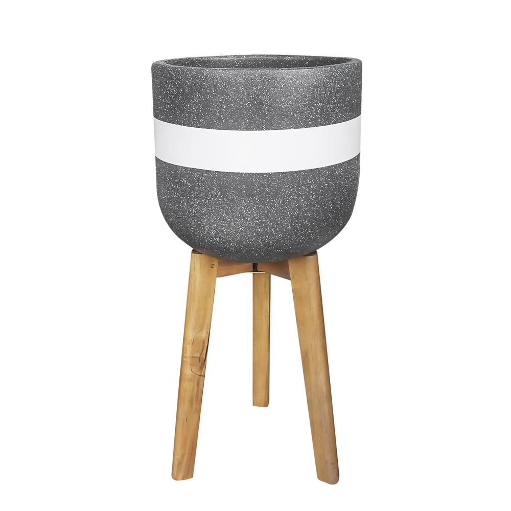 Hortus cement planter grey