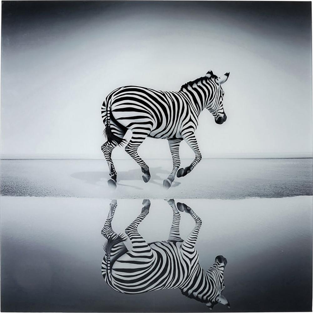Banda zebra glass art