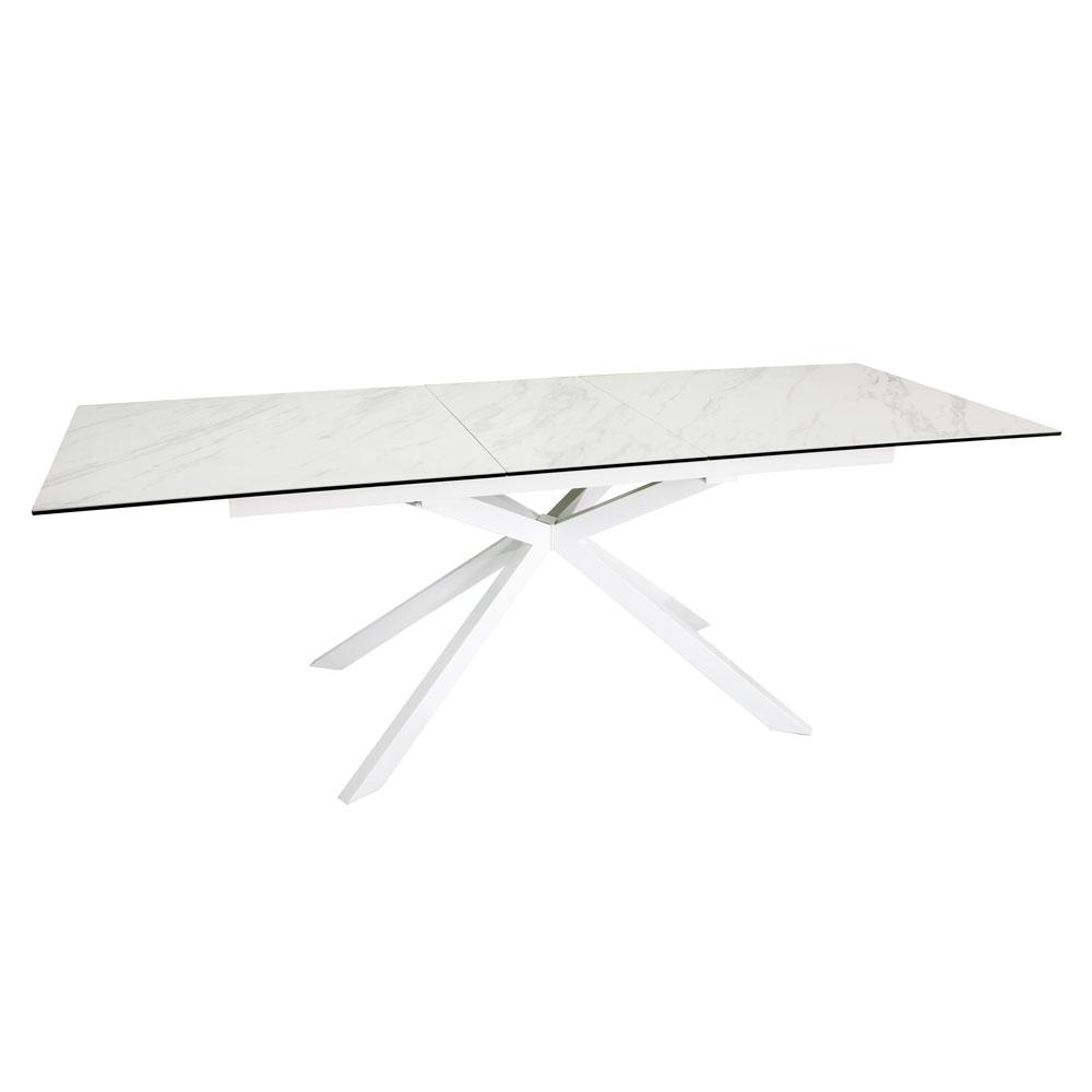 Bolzano marble ceramic extending 8-10 seater dining table
