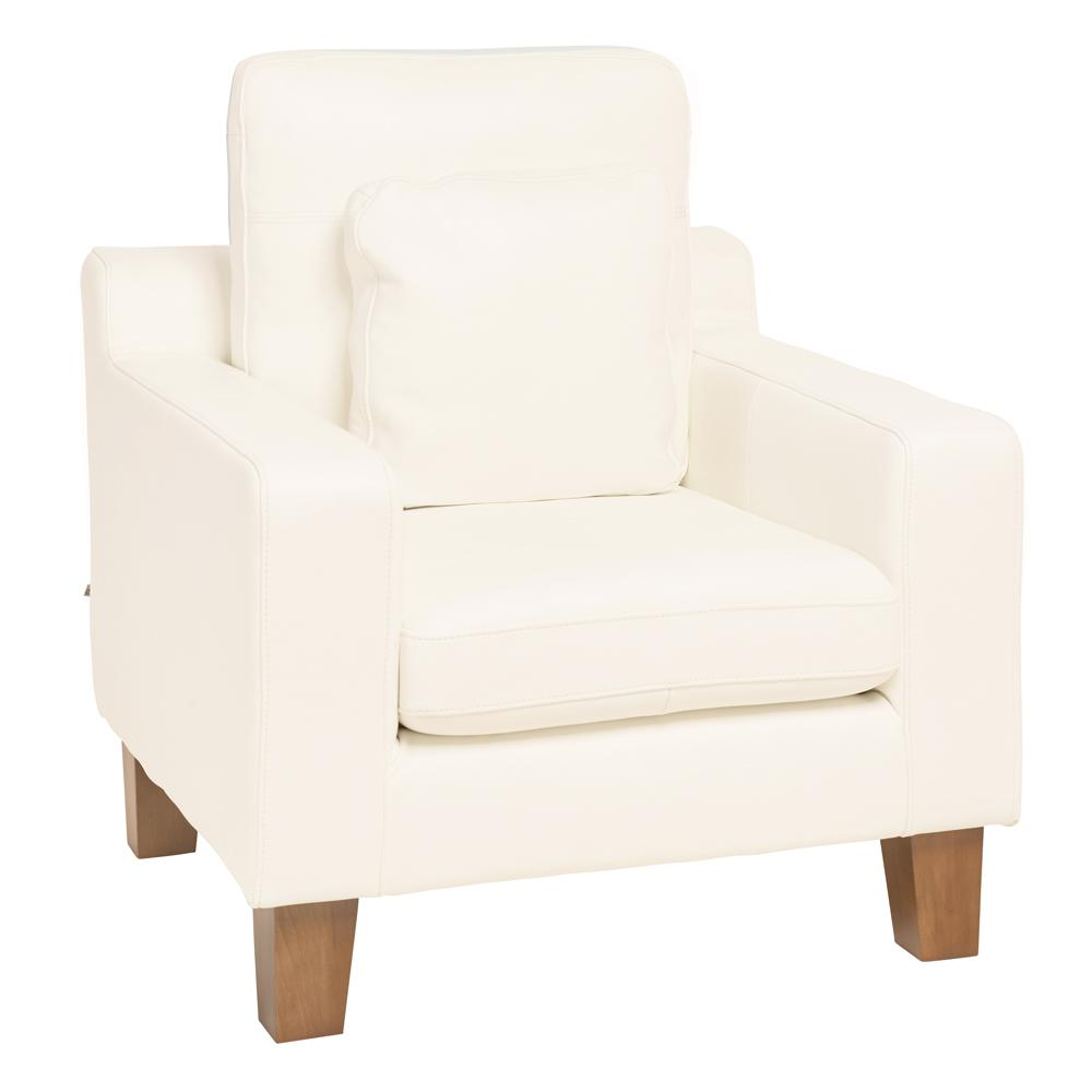 Ankara armchair brilliant white leather