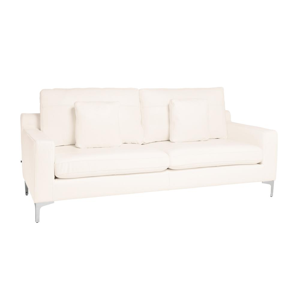 Savio three seater sofa brilliant white