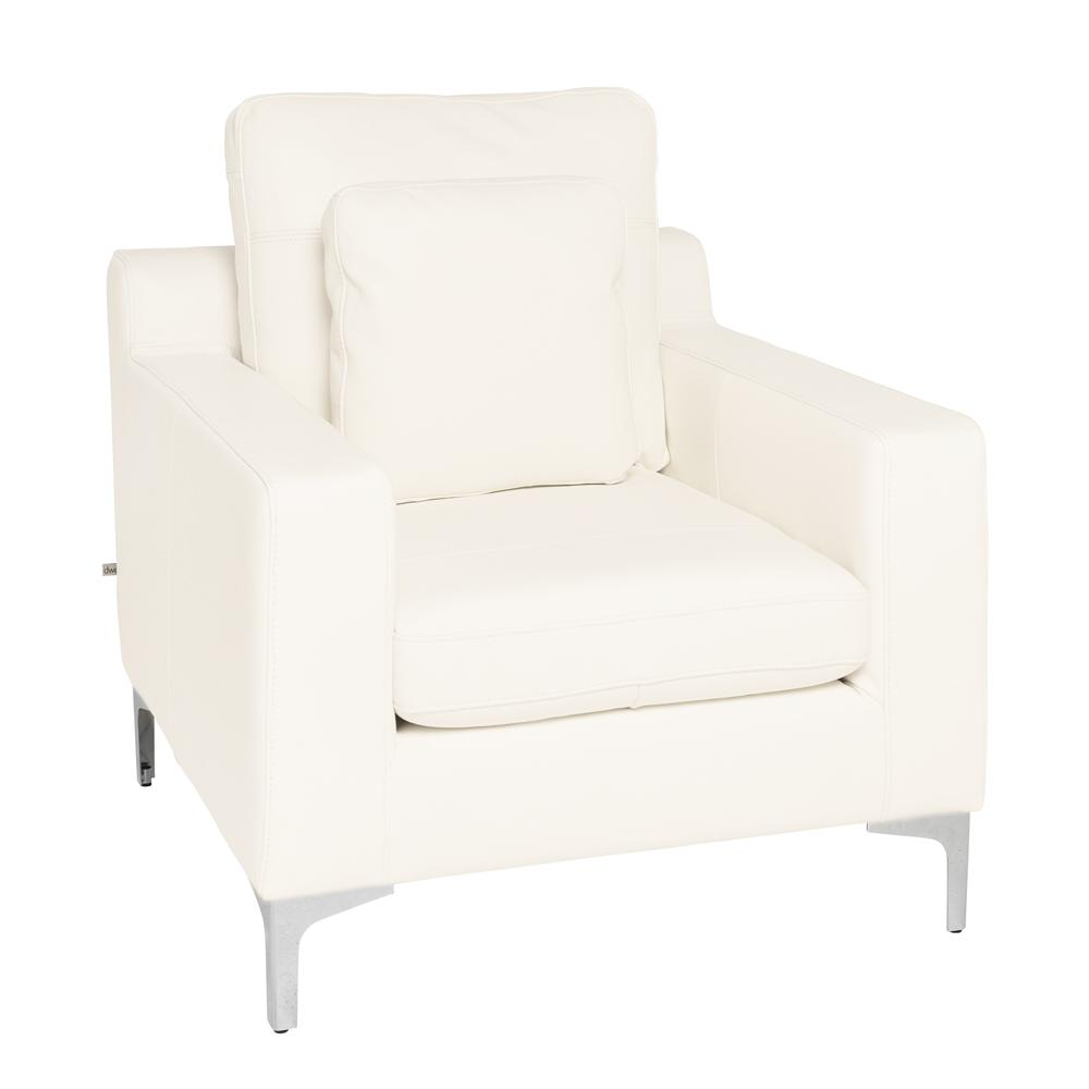 Savio armchair brilliant white