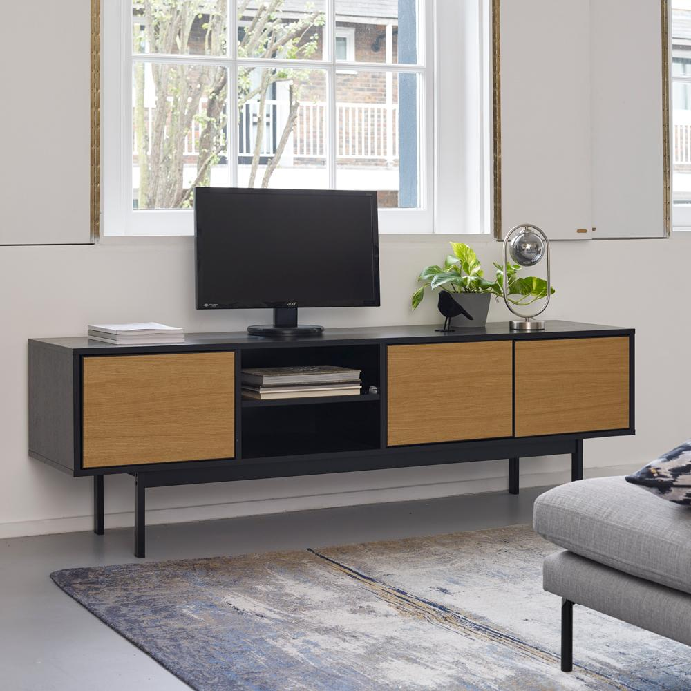 Telaio TV unit oak and black