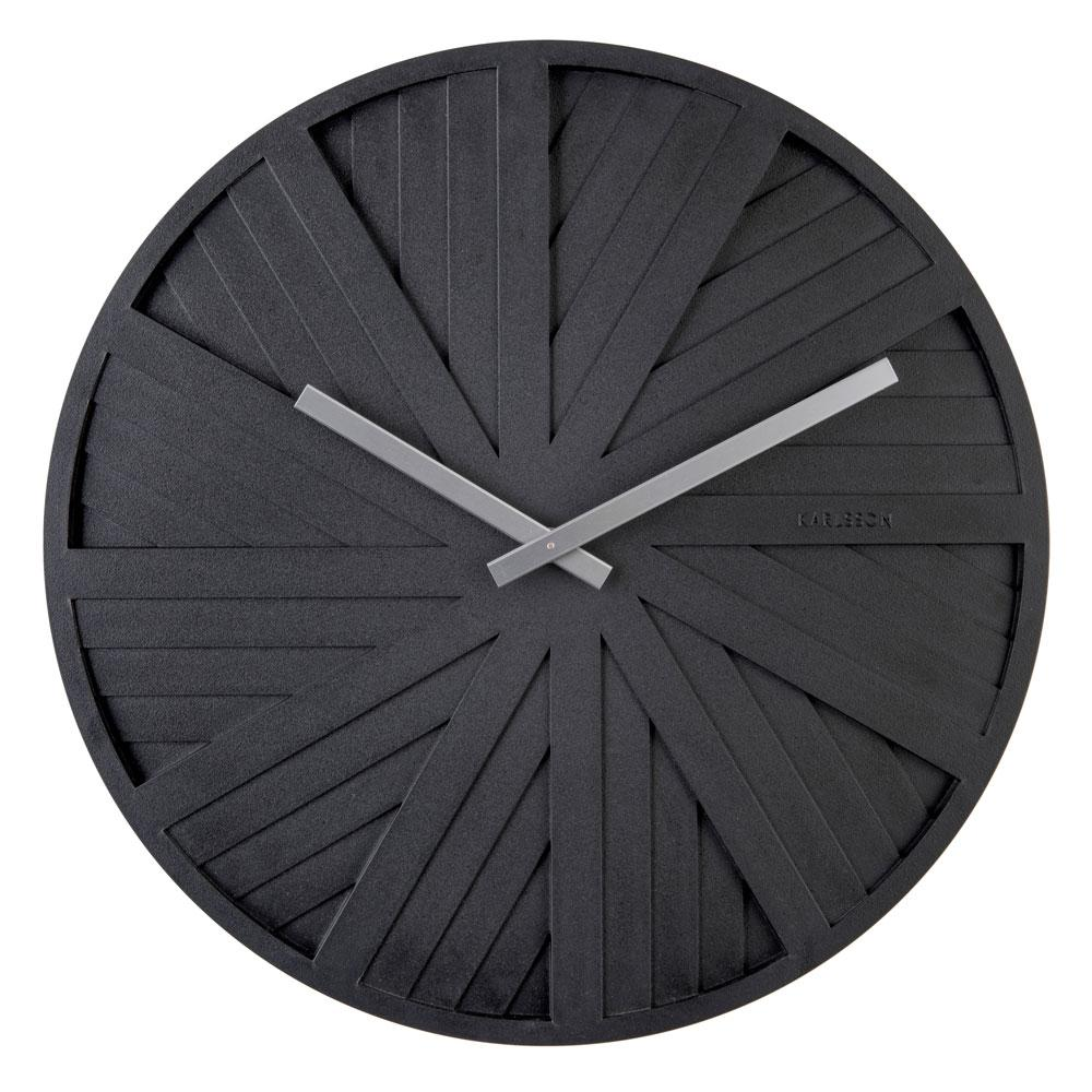 Slides wall clock black by Chantal Drenthe