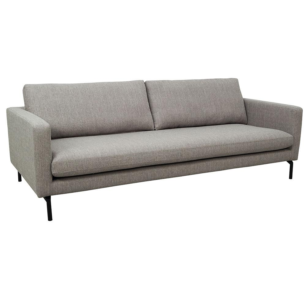 Modena fabric three seater sofa grey