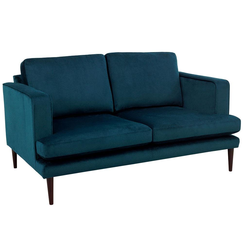 Molise two seater sofa alba velvet blue